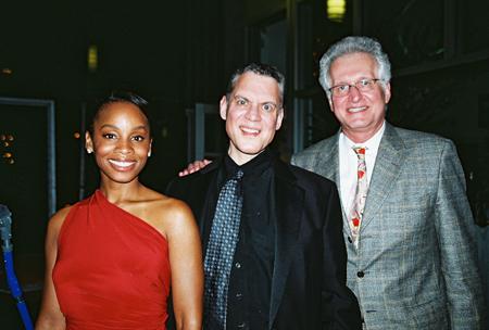 Anika Noni Rose, Steven Blier and Jack Viertel at NYFOS Johnny Mercer Concert