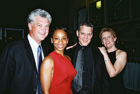 Michael Barrett (NYFOS Co-Artistic Director), Anika Noni Rose, Steven Blier and Liz Callaway at NYFOS Johnny Mercer Concert