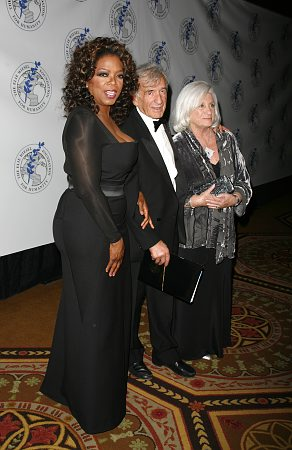 Oprah Winfrey, Elie Wiesel and wife at Elie Wiesel Foundation Humanity Dinner