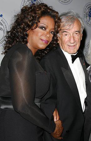 Oprah Winfrey and Elie Wiesel at Elie Wiesel Foundation Humanity Dinner