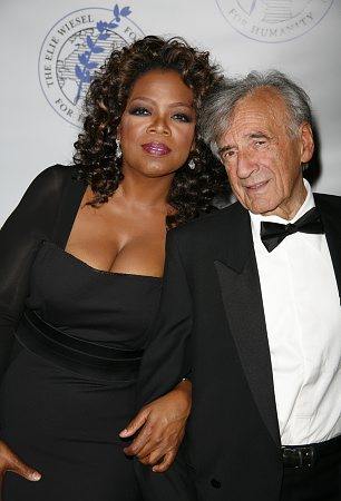 Oprah Winfrey and Elie Wiesel at Elie Wiesel Foundation Humanity Dinner