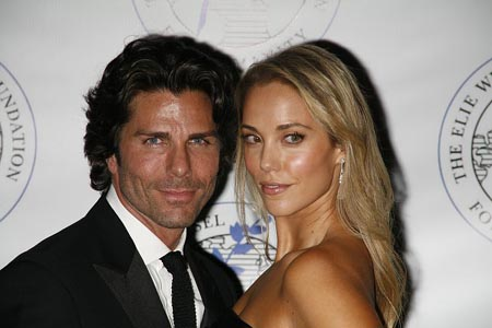 Greg Lauren and Elizabeth Berkley at Elie Wiesel Foundation Humanity Dinner