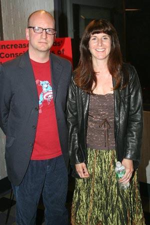 Steven Soderbergh and Kathleen Russo at Steven Soderbergh at Spalding Gray Screening