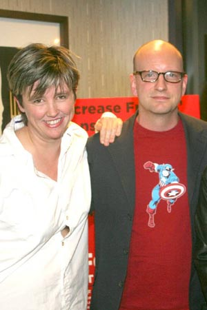 Lucy Sexton and Steven Soderbergh at Steven Soderbergh at Spalding Gray Screening