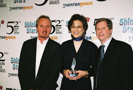 Brian MacDevitt, Natasha Katz and Kenneth Posner at Drama Desk Awards Press Room & After-Party