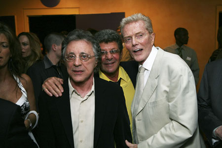 Frankie Valli, Frankie Avalon and Record Producer Bob Crewe at  'Jersey Boys' Opens in L.A.