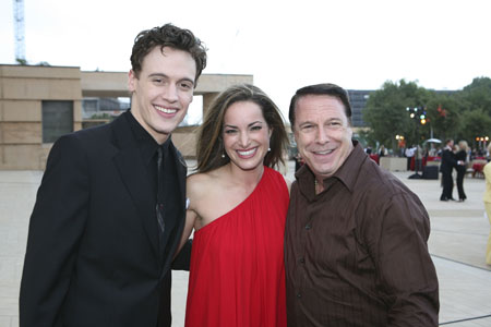 Erich Bergen, Jackie Seiden and leading CTG Board Member Martin Massman at  'Jersey Boys' Opens in L.A.