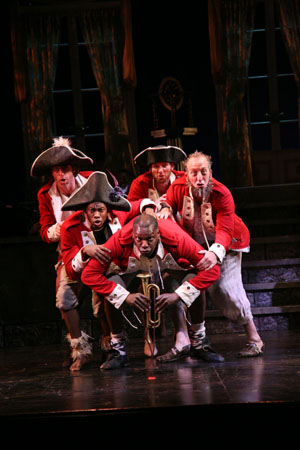 Timothy J. Alex, Eric LaJuan Summers, Gerry McIntyre, Lucas Richter and Roger Preston Smith at Paper Mill's Pirates! in Previews