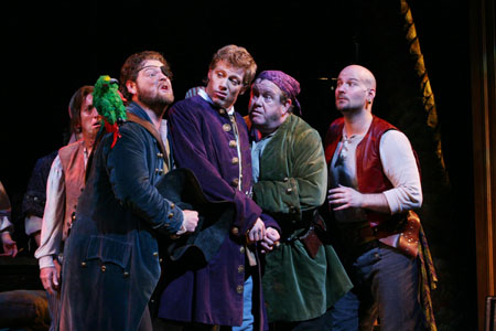 Roger Preston Smith, Michael McKinsey, Barrett Foa, John O'Creagh and Michael Scott Harris at Paper Mill's Pirates! in Previews