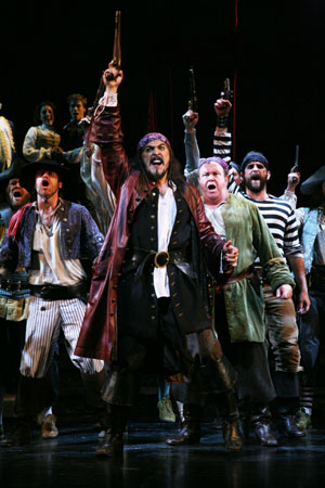 Michael McKinsey, Timothy J. Alex, Andrew Varela, John O'Creagh and Daniel Spiotta  at Paper Mill's Pirates! in Previews
