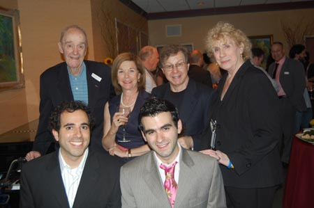 The 17th Annual Kleban Award winners-  librettist Jeremy Desmon and lyricist Joe Iconis; Back row: Alan J. Stein of the Kleban foundation Board of Directors; Linda Klein, widow of Edward Kleban; Tony Award winner Maury Yeston and BMI's Jean Banks