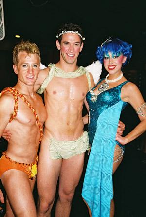 Brian Collier, Jeff Metzler and Tara Bruno at Backstage at Broadway Bares XVII