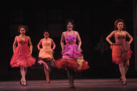 Nicky Cooper as Teresita, Rebecca Riker as Francesca, Jacqueline Colmer and Kristin Piro as Consuelo at BSC's West Side Story
