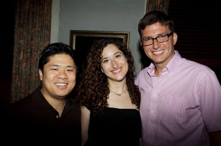 Wilson Chin, Christie Evangelisto and Roberto Aguirre-Sacasa at 'Size Zero' Opening Night