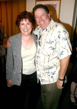 Judy Kaye and David Green at Orbach Rechristening at Snapple Center