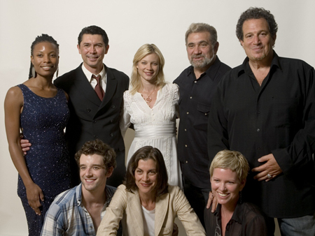 (Top) L-R Producer Tabbatha Mays, Lou Diamond Phillips, Amy Smart, Dan Lauria & Producer & The Hayworth Artistic Director Gary Blumsack