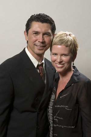 Lou Diamond Phillips and Lynn Kirby at  Lou Diamond Phillips 'Burning Desire'