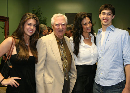 Lynda Carter with her family - Jessica Altman (daughter), Colby Carter (father), Lynda Carter and James Altman (son)