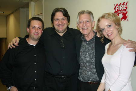 Jay Mack (Percussion), James Bassi (Piano), Michael Montel and Nancy Anderson at York Theatre Company's I and Albert