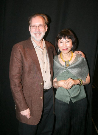 Michael Korie and Amy Tan  at Amy Tan Visits Grey Gardens