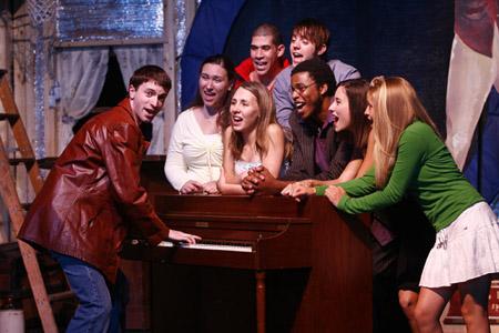 Jon Balcourt, Joella Burt, Nikita Richards, Joe Walker, Ryan Sprague, Roy George, Jennie Riverso and Courtney Ellis at Idol: The Musical