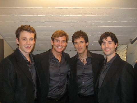 Michael Arden, Sean McDermott, Hugh Panaro and Peter Lockyer