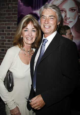 John Farrar and wife Pat Carroll at Xanadu Opening Night Arrivals