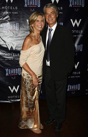 Olivia Newton-John and John Farrar at Xanadu Opening Night Party