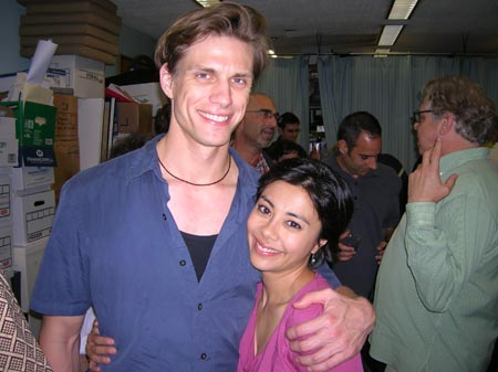Lee Rosen and Angel Desai at York Theatre Co.'s Bajour Opening Night