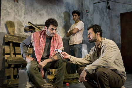 Arian Moayed, Sanjit DeSilva and Daoud Heidami at Off-Broadway's 'Masked' in Previews