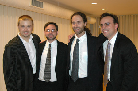 Chris Michaels, Nathan Childers, Mark Wade and Ted Firth - the musicians and musical director at Broadway's Rising Stars