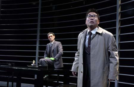 Keong Sim and Andrew Pang at Murakami's 'after the quake' at La Jolla
