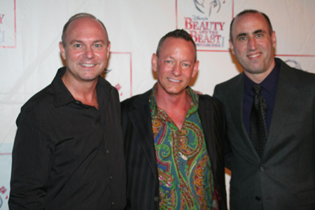 Matt West, Stanley A. Meyer and Robert Jess Roth at Beauty and the Beast Closing Night