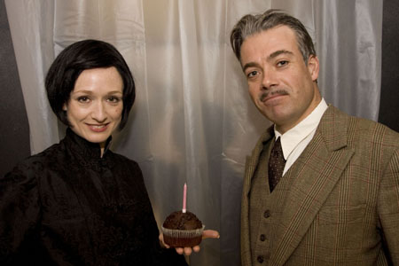 Robert Portal and Rachel Pickup at The 39 Steps Celebrates Hitchcock's B'Day