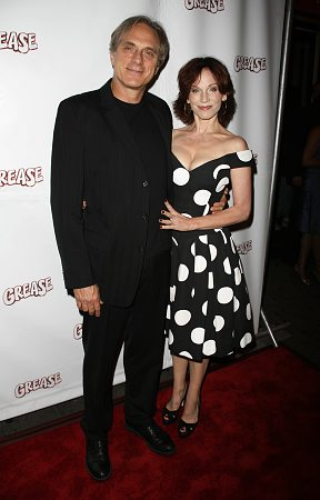Michael Brown and Marilu Henner at 'Grease' Opening Night Arrivals