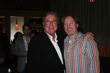 Bob Boyett and John McDaniel (Music Supervisor, Arrangements, Orchestrator) at 'Happy Days' Opening Night Party