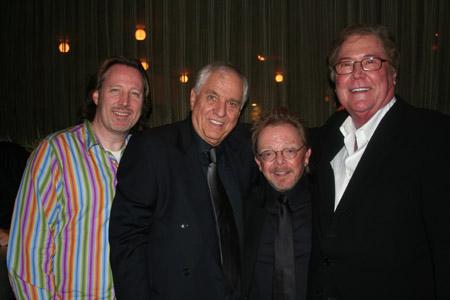 John McDaniel, Garry Marshall, Paul Williams and Bob Boyett at 'Happy Days' Opening Night Party