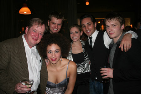 Patrick Garner, Shawn Gough, Andrea Dora, Natalie Bradshaw, Eric Schneider and Corey Boardman (Altar Boyz) at 'Happy Days' Opening Night Party