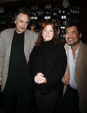 Arthur Kopit, Theresa Rebeck and David Henry Hwang at Theresa Rebeck Honored by Lark Theatre
