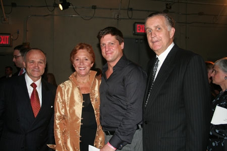 NYC Police Commisioner Raymond W. Kelly, Suzanne Ramos (Evening Co-Chair), Christopher Sieber and Paul Tagliabue