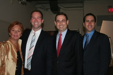 Suzanne Ramos, Todd Sears (VP/Diversity Director Merrill Lynch), Drew Tagliabue (PFLAG NYC Executive Director) and Daniel Whitman (Gay Center.org)