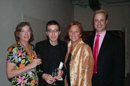 Linda Boldt (Ben Affleck's Aunt), Jason Fleetwood-Boldt, Suzanne Ramos and Glenn Connolly (Evening Co-Chair, Sothebys International Realty)