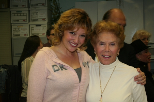 Laura Marie Duncan and Mindy Carson (original cast member) Photo