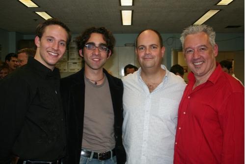 John Bell, Chris Robinson (Lighting Design), Brad Oscar and David Glenn Armstrong