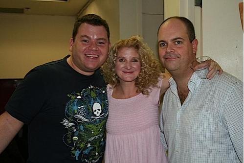 Diego Prieto, Megan Lawrence (Gloria) and Brad Oscar (Dave Colman)