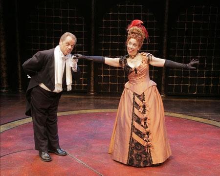 Gary Marachek (as Alain Cholet) and Sandy Rosenberg (as La Carlotta)