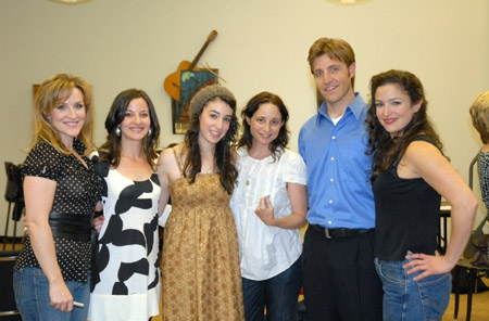 Jane Eyre cast reunion shot: Jayne Patterson, Jennifer Waiser, Sara Farb, Nell Balaban, Travis Poelle and Marla Schaffel