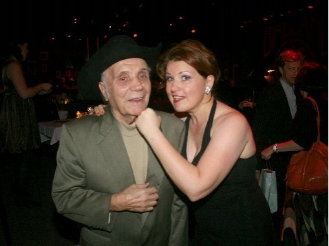 Boxing Legend Jake LaMotta and Klea Blackhurst