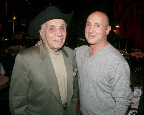 Jake LaMotta and Gianni Valente (Birdland Owner)