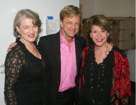 Cass Morgan, Jim Caruso and Jane Olivor at 'A Tribute to Stephen Schwartz' Backstage